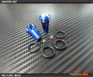 Hawk TX Switch Knobs Cap Blue Long V2 (2pcs, Fit All Brand TX)